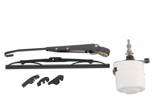 Electric windshield wipers with powerful, decoupled electric motor. Stainless steel housing. Available as either a12 Vor 24 Vversion.  (Image 2 of 6)