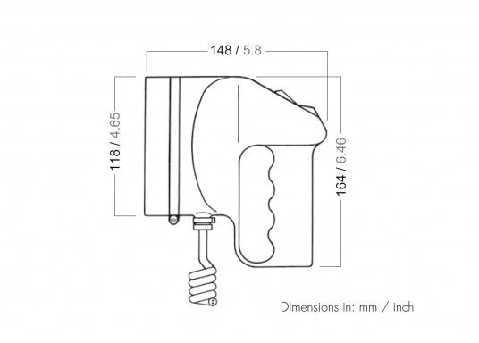 Das Original! Diese hochwertigen und absolut wasserdichten Handscheinwerfer können sogar unter Wasser eingesetzt werden. Der Ein/Ausschalter ist mit einer praktischen Morsetaste ausgestattet. LIeferbar in verschiedenen Ausführungen. (Bild 9 von 9)