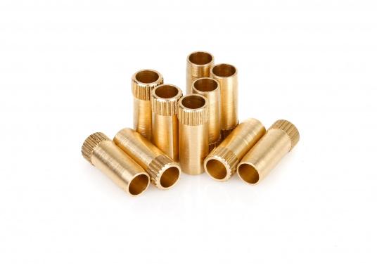 Passende Stützhülsen für die Kupferrohremit einem Außendurchmesser von 10, 8 und 6 mm (Innen-Ø: 8 / 6 / 4 mm).Beim Einsatz von Verschraubungen sind unbedingt Gas-Stützhülsenzu verwenden. Die Verpackungseinheit beträgt 10 Stück.