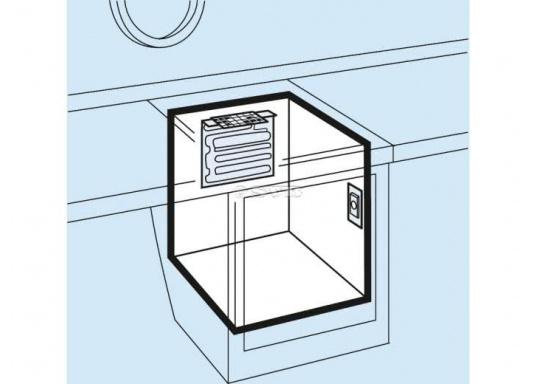Der L-Verdampfer ist für Kühlrauminhalte von 80 bis 100 Liter bei einer PU-Isolierung von 35 mm bzw. 50 mm geeignet. (Bild 2 von 3)