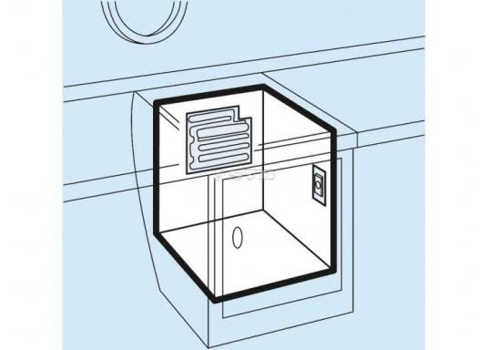 Dieser Flach-Verdampfer ist für Kühlrauminhalte von 35 bis 50 Liter bei einer PU-Isolierung von 35 mm bzw. 50 mm geeignet. (Bild 2 von 3)