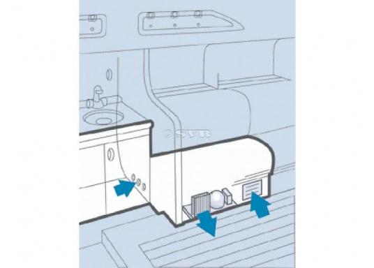 Die ColdMachineSerie 80 wurdefür kleine und mittlere Kühlrauminhalte, sowie für den Einsatz in wärmeren Gewässern konzipiert. Erhältlich in verschiedenen Größen für Boden- oder Wand-Montage. (Bild 2 von 6)