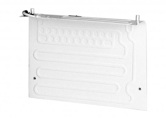Der L-Verdampfer VD-04 ist für Kühlrauminhalte bis max. 130 bzw. max. 170 Liter bei 35 mm bzw. 50 mm PU-Isolierung geeignet. Vertikaler oder horizontaler Einbau möglich.