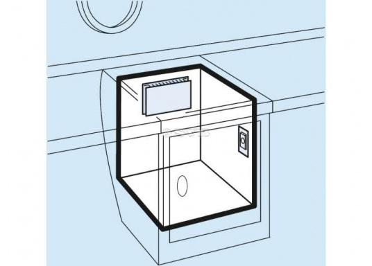 Der Kupfer-Aluminium-Lamellenverdampfer hat eine große Oberfläche und bietet somit hervorragende Kühleigenschaften durch Kühllamellen. Er ist besonders geeignet für hohe Umgebungstemperaturen und große Kühlrauminhalte.  (Bild 5 von 6)