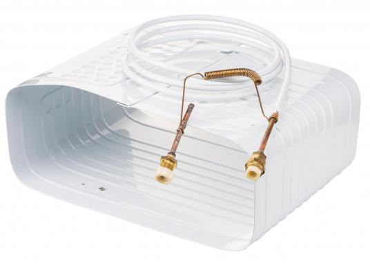 Dieser Kastenverdampfer kann vertikal oder horizontal in Kühlboxen oder Kühlschränke eingebaut werden. Er kann auch als Tiefkühlfach eingesetzt werden. Geeignet für Kühlrauminhalte bis max. 160 Liter bzw. 180 Liter.  (Bild 2 von 4)