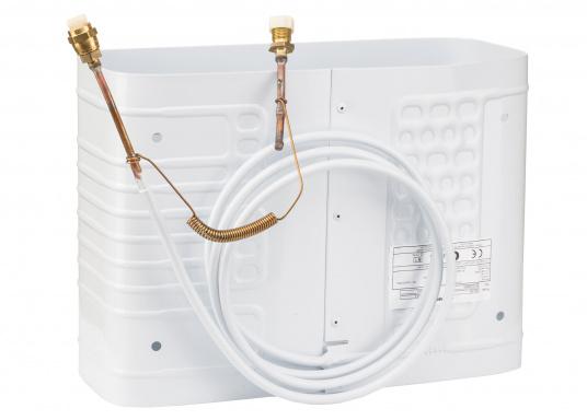 Dieser Kastenverdampfer kann vertikal oder horizontal in Kühlboxen oder Kühlschränke eingebaut werden. Er kann auch als Tiefkühlfach eingesetzt werden. Geeignet für Kühlrauminhalte bis max. 160 Liter bzw. 180 Liter.