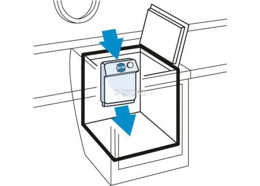 Der Umluftverdampfer ist für Kühlboxen und Kühlschränke geeignet. Er wurde speziell für hohe Umgebungstemperaturen und für Kühlrauminhalte bis max. 200 Liter bei 35 mm bzw. 250 Liter bei 50 mm PU-Isolierung konzipiert.  (Bild 4 von 4)