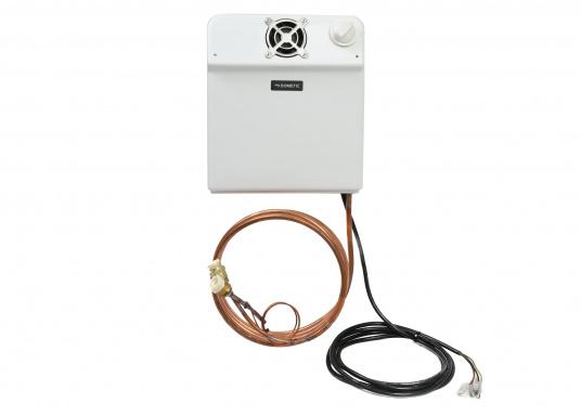 Der Umluftverdampfer ist für Kühlboxen und Kühlschränke geeignet. Er wurde speziell für hohe Umgebungstemperaturen und für Kühlrauminhalte bis max. 200 Liter bei 35 mm bzw. 250 Liter bei 50 mm PU-Isolierung konzipiert.  (Bild 3 von 4)