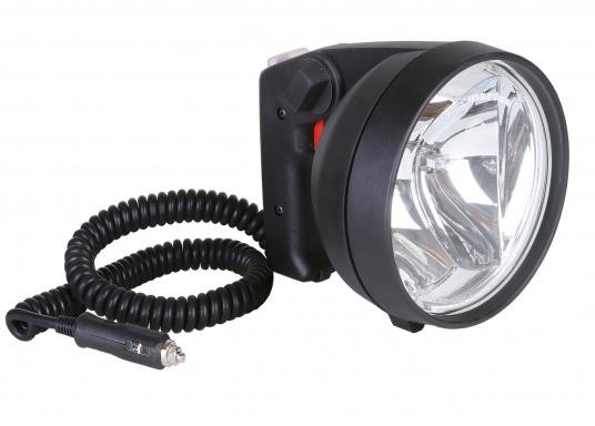 Kompakter, leistungsstarker und wasserdichter Suchscheinwerfer. Zwei praktische Schalter erlauben ein schnelles Umschalten zwischen Nahbereich und Fernbereich. Der doppelte FF-Reflektor sorgt für eine exakte Lichtsteuerung.