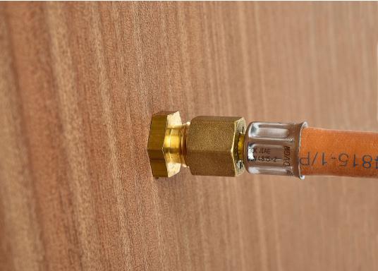 Messing Schottdurchführung in gerader Ausführung.Passend für 8 mm Rohre.  (Bild 4 von 4)