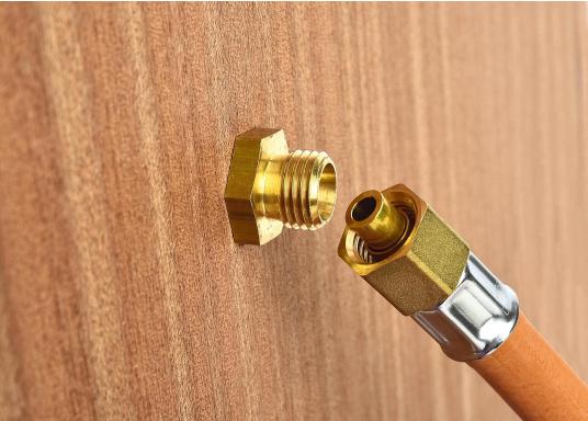 Messing Schottdurchführung in gerader Ausführung.Passend für 8 mm Rohre.  (Bild 3 von 4)
