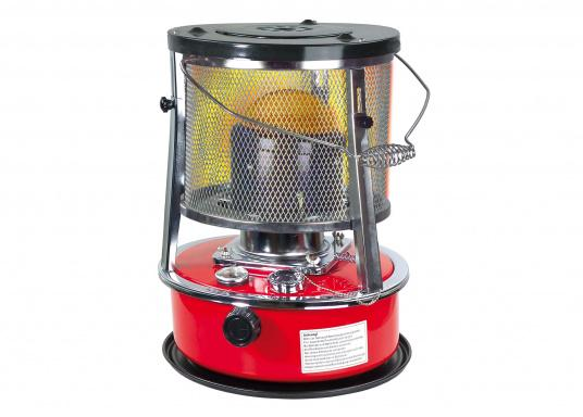The kerosene-heater provides warmth and cosiness on board, in winter storage, in the garage or in a shelter. Equipped with an approx. 5 liters fuel tank, the heater provides an operating time of about 17 hours.
