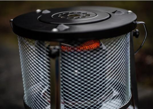 Die Petroleum-Heizung sorgt für angenehme Wärme und Gemütlichkeit– an Bord, im Winterlager, in der Garage oder im Festzelt. Ausgestattet mit einem ca. 5Liter Brennstofftank bietet das Gerät eine Betriebsdauer von ca. 17 Std.  (Bild 9 von 16)