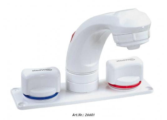 Für kleine Platzverhältnisse– die raumsparende Bauweise dieser Wasserhähne ermöglicht den Einsatz auch in kleinen Waschräumen oder dem Pantry-Bereich. Lieferbar in verschiedenen Ausführungen.