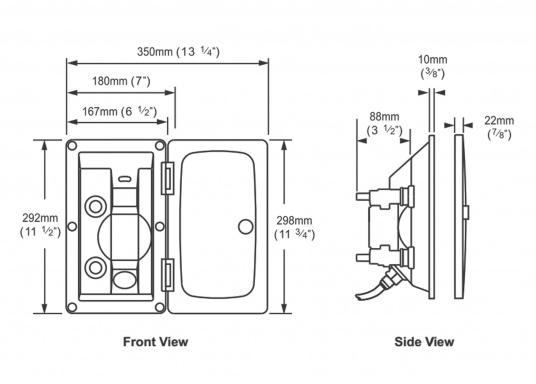 Schicke Außendusche für Ihre Motor- oder Segelyacht. Die Dusche ist für permanente Wasserdrucksysteme geeignet oder kann mit Mikroschaltern nachgerüstet werden, die ausschließlich bei Bedarf die elektrische Wasserpumpe aktivieren.  (Bild 4 von 5)