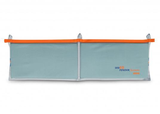 Ihre Yacht ist durch diesen Langfender optimal geschützt. An der Kaje, in der Box oder im Päckchen. Zusammengefaltet als Pack bietet der Fender auch an der Spundwand optimalen Schutz.  (Bild 3 von 5)