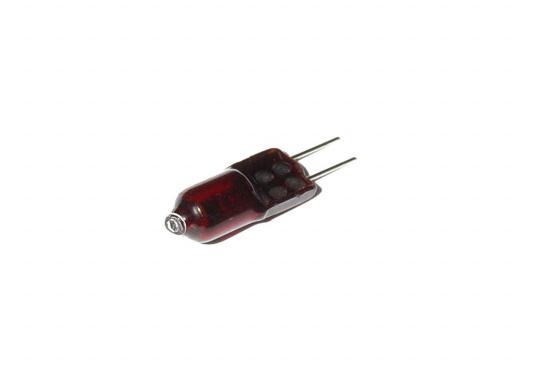 Hier erhalten Sie eine Ersatz-Halogen-Glühlampe, Fassung:G4, 12 Volt, 10 Watt. Leuchtfarbe: Rot.