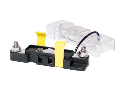 Sicherungshalter für MIDI mit 8 mm Bolzendurchmesser, belastbar bis 200 Ampere.Dieser Sicherungshalter ist enorm robust und aufgrund derhochwertigen Materialien und der ISO 8846 / EN 28846 Norm in Motorräumen einsetzbar.  (Bild 2 von 3)