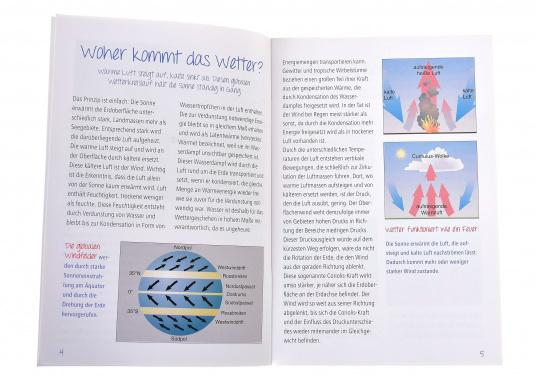 Maritime basic knowledge in pocket format! The book offers maritime basic knowledge about weather, with many photos and illustrations. Language: German.