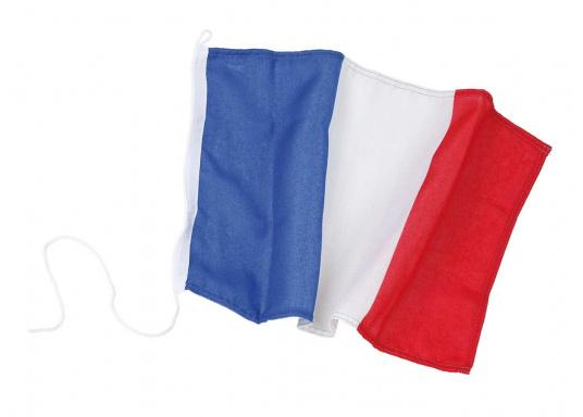 Robuste Nylon-Flaggen mit offiziellem Landesflaggen-Druck: Frankreich. Hochwertige Verarbeitung mit 100%-Durchdruck, schnelle und einfache Befestigung.  (Bild 2 von 4)