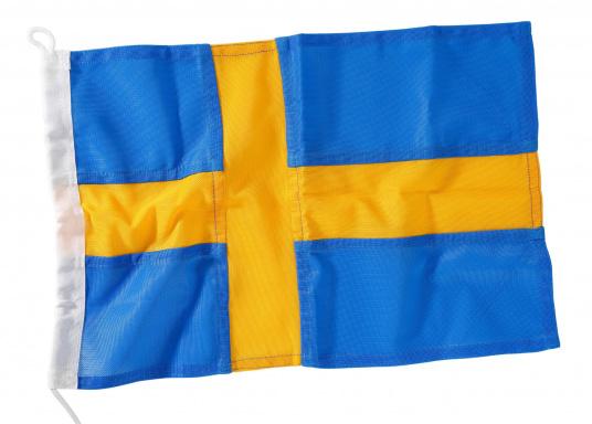 Pavillon Suédois. Tissus nylon de haute qualité sérigraphié. Facile à fixer.