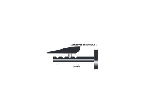 Der Wandmontage-Arm dient zur Befestigung des Pinnenpiloten an einer senkrechten Oberfläche. Träger: 135-240 mm. (Bild 3 von 3)