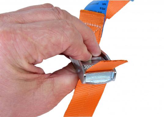 Fertig konfektionierte Zurrgurte. Für schnelles und einfaches Festzurren von Gegenständen. (Bild 3 von 5)