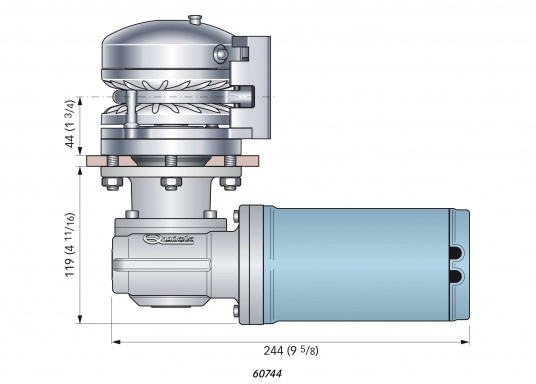 BALDER windlass with Free-Fall technology and auto stop function (auto stop kit sold separately).  (Image 4 of 4)