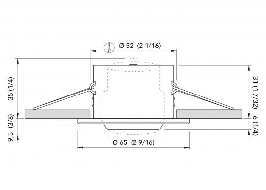 Moderne, einstellbare LED Deckenleuchte aus Edelstahl. Die hochwertige Power-LED garantiert eine besonders hohe Effizienz. Erhältlich in Edelstahl, poliert.  (Bild 4 von 5)