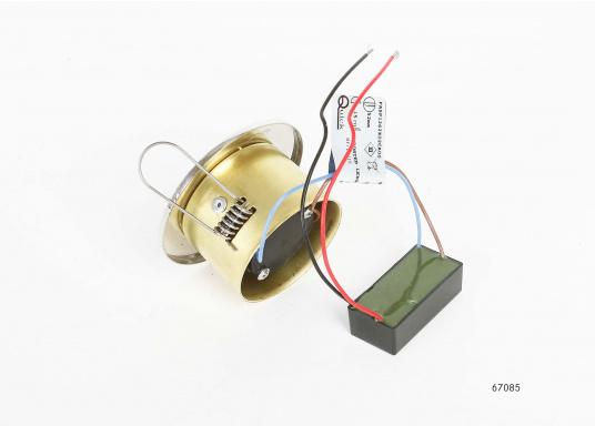 Moderne, einstellbare LED Deckenleuchte aus Edelstahl. Die hochwertige Power-LED garantiert eine besonders hohe Effizienz. Erhältlich in Edelstahl, poliert.  (Bild 3 von 5)