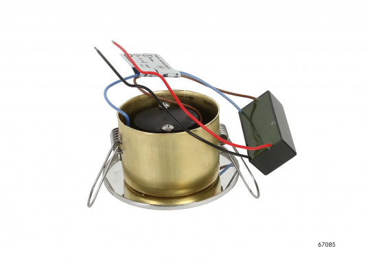 Moderne, einstellbare LED Deckenleuchte aus Edelstahl. Die hochwertige Power-LED garantiert eine besonders hohe Effizienz. Erhältlich in Edelstahl, poliert.  (Bild 2 von 5)