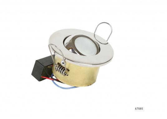 Moderne, einstellbare LED Deckenleuchte aus Edelstahl. Die hochwertige Power-LED garantiert eine besonders hohe Effizienz. Erhältlich in Edelstahl, poliert.  (Bild 5 von 5)