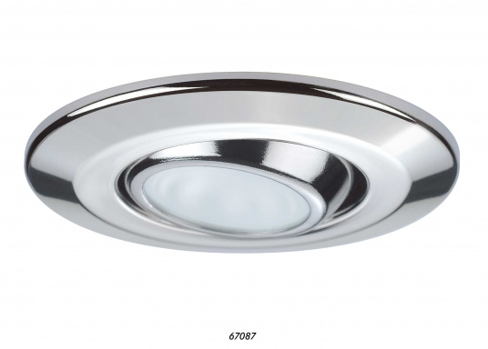 Trendy, dimmable LED ceiling light made out of stainless steel. The high power LED bulb guarantees particularly high efficiency. Available in stainless steel, polished.