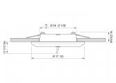 Plafoniera a LED - SELENE / acciaio inox, lucido