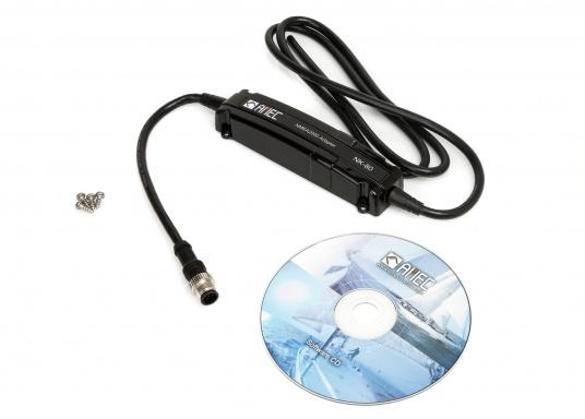 Der Netzwerk-Adapter NK-80 vom AMECist ein Verbindungsglied zwischen NMEA0183 und NMEA2000 Geräten und ermöglichteine gemeinsame Nutzung der Daten in beide Richtungen.  (Bild 2 von 4)
