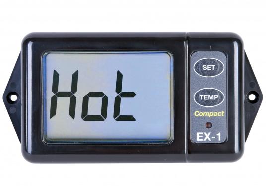 Die Anzeige zeigt kontinuierlich die Abgastemperatur an. So hat man die Temperatur des Motors immer im Blick und kann eingreifen, bevor große Schäden am Motor entstehen.