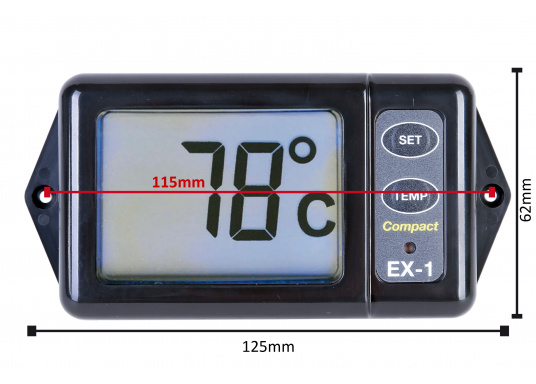 Die Anzeige zeigt kontinuierlich die Abgastemperatur an. So hat man die Temperatur des Motors immer im Blick und kann eingreifen, bevor große Schäden am Motor entstehen. (Bild 8 von 8)