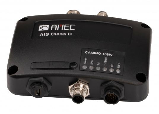 Le transpondeur AIS AMEC CAMINO-108 est un émetteur/récepteur classe B de la dernière génération, il vous permet de transmettre vos données à d'autres navires équipés d'appareils AIS et de recevoir leurs données en les affichant sur un traceur ou PC dédié, c'est la manière la plus simple de diminuer les risques de collision en mer. (Image 2 de 4)