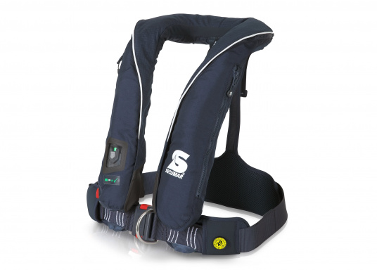 The ergonomic SURVIVAL 220 with 220N buoyancy is suitable for 50 kg body weight and more. For yachting and cruising, offshore sailing (blue water). Optimum freedom of movement, suitable for long trips.