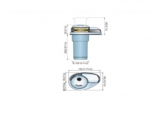 Winde PRINCEDP2E für kombinierten Betrieb von Kette und Tauwerk. Erhältlich mit und ohne Spill. (Bild 2 von 2)