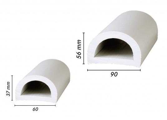 Nie wieder Kratzer am Boot! Die PVC Stegfender schützen Ihr Boot vor Beschädigung und sorgen für eine gute, geräuschlose Stoßdämpfung beim Anlegen.  (Bild 2 von 3)