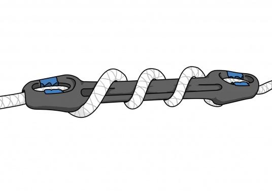 Schonen Sie Tau und Boot! Mit den neuen Ruckdämpfern mit herausnehmbarem Tauwerk-Stopper von UNIMER gelingt das ganz leicht. Einfach die gewünschte Härte der Dämpfung selber einstellen, indem Sie die Anzahl der Windungen des Tauwerks variieren.  (Bild 9 von 9)