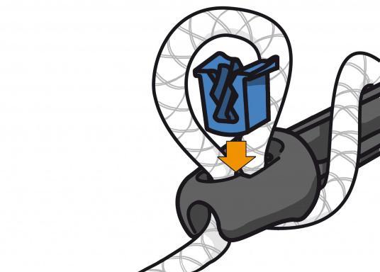 Schonen Sie Tau und Boot! Mit den neuen Ruckdämpfern mit herausnehmbarem Tauwerk-Stopper von UNIMER gelingt das ganz leicht. Einfach die gewünschte Härte der Dämpfung selber einstellen, indem Sie die Anzahl der Windungen des Tauwerks variieren.  (Bild 7 von 9)