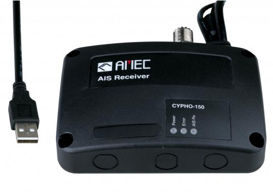 Your entry to a safe voyage withAIS! The dual channel AIS receiver CYPHO150 with excellent receiving performance.