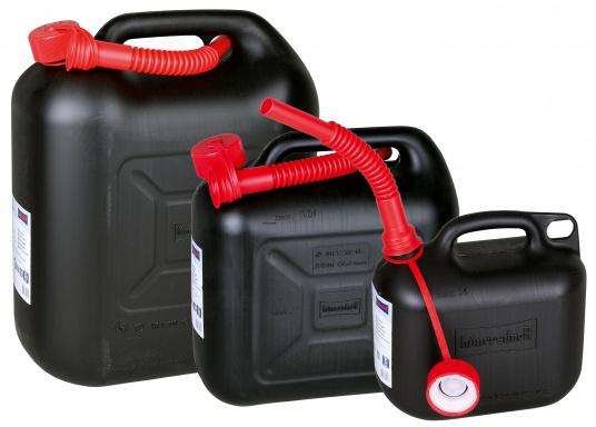 Der Kraftstoffkanister für höchste Sicherheitsansprüche! Der Kanister aus HD-PE ist für den Transport von Gefahrenstoffgütern zugelassen. Inkl. Kinder-Sicherheitsverschluss, TÜV-geprüft, E10 geeignet.