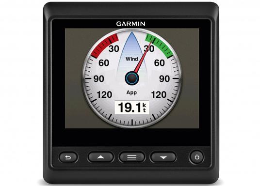 """Das brandneue MultifunktionsinstrumentGMI20 von GARMIN kann Daten wie Logge, Echolot, Temperatur, Wind, GPS-Daten, Tankinhalt und viele andere anzeigen. Ausgestattet mit einem 4"""" Farbdisplay ist es auch aus der Distanz gut abzulesen."""