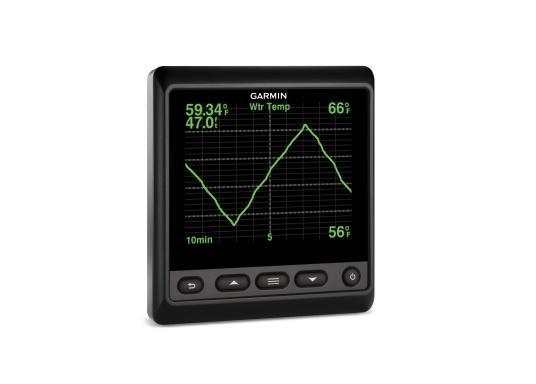 """Das brandneue MultifunktionsinstrumentGMI20 von GARMIN kann Daten wie Logge, Echolot, Temperatur, Wind, GPS-Daten, Tankinhalt und viele andere anzeigen. Ausgestattet mit einem 4"""" Farbdisplay ist es auch aus der Distanz gut abzulesen.  (Bild 7 von 11)"""
