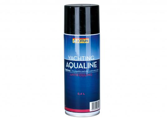 Effektiver, selbstpolierender Schutz für Propeller und andere Metalle unter der Wasserlinie: das Antifouling AQUALINE OPTIMA von JOTUN. Mit Hilfe der Spraydose kann das Antifouling einfach und gleichmäßig aufgetragen werden.