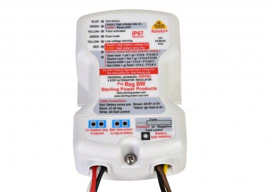IUoUo Digital Regulator with special recognition of VRLA batteries (Gel and AGM). Achieving a charge of almost 100%. Temperature sensor included.
