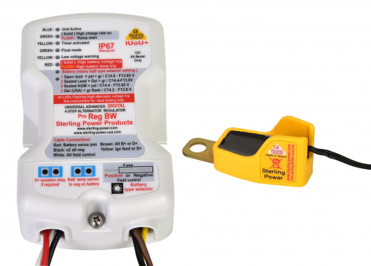 IUoUo Digital Regulator with special recognition of VRLA batteries (Gel and AGM). Achieving a charge of almost 100%. Temperature sensor included.  (Imagen 2 de 4)